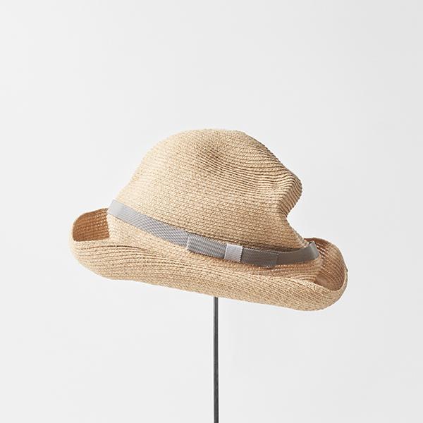 BOXED HAT raffia 11cm brim