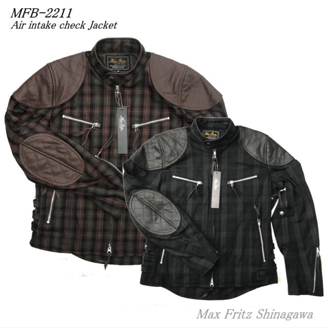 MFB-2211タータンチェックシングルライダースJK