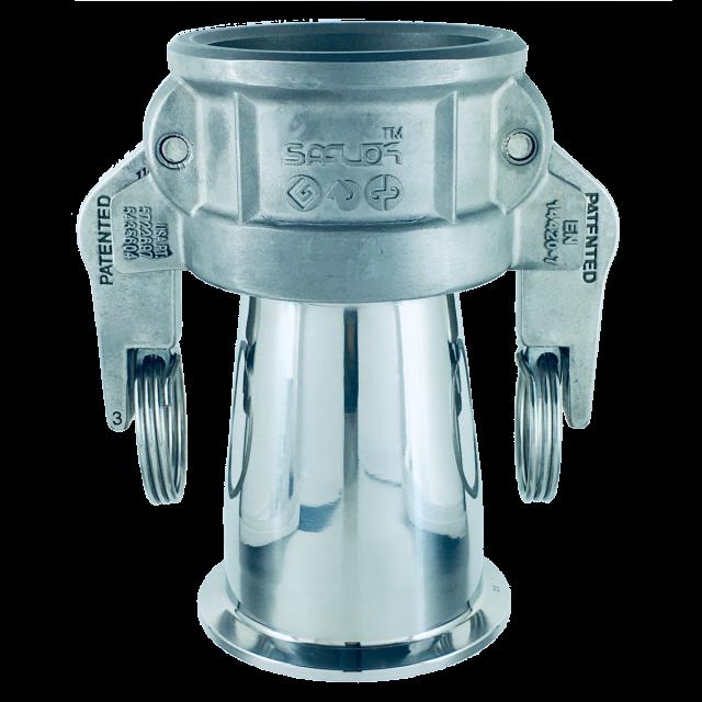 自動ロックカプラー(へルール) ステンレス SAF-SC-SUS