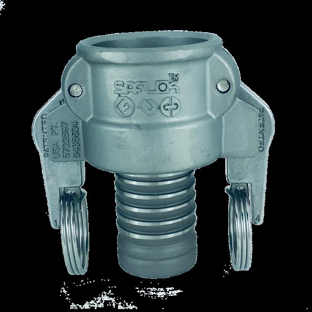 自動ロック カプラー(スイベル機能付き ホースシャンク ニップル細径タイプ) ステンレス SAF-CSS-SUS