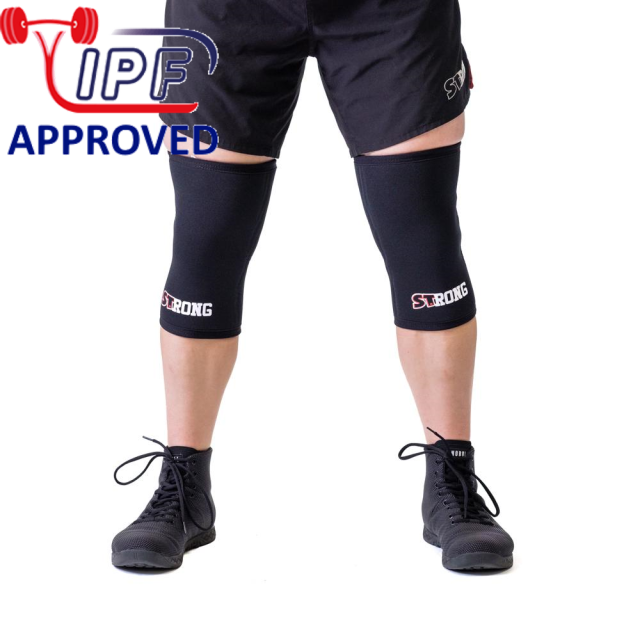 STrong_Knee_Sleeve_Black_Front1