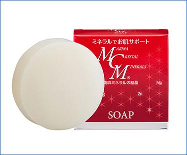 ミネラルで潤い肌!海洋ミネラル配合 MCMミネラルソープ 高起泡・無香料・無着色・パラベン不使用