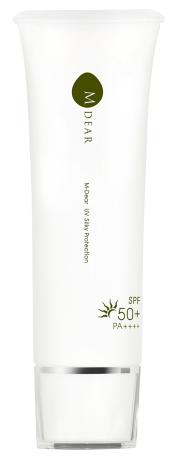 ケミカルフリーの肌に優しい低刺激処方の日焼け止め【エムディア  UVシルキープロテクション (SPF50+ PA++++)】