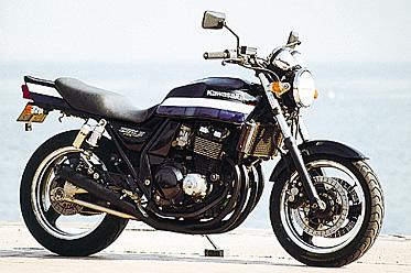 ZRX 400(~97/98~)(K16)(K20)NEWショート管-ブラック