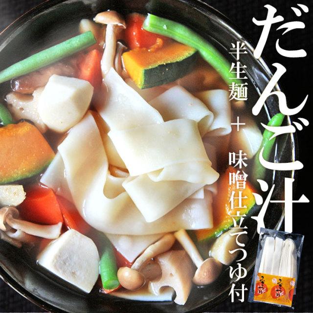 半生だんご汁 団子汁 九州名物 140g×2 2食分 つゆ付き