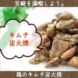 送料無料 宮崎名物焼き鳥 鶏のキムチ炭火焼80g×2 おつまみ 珍味