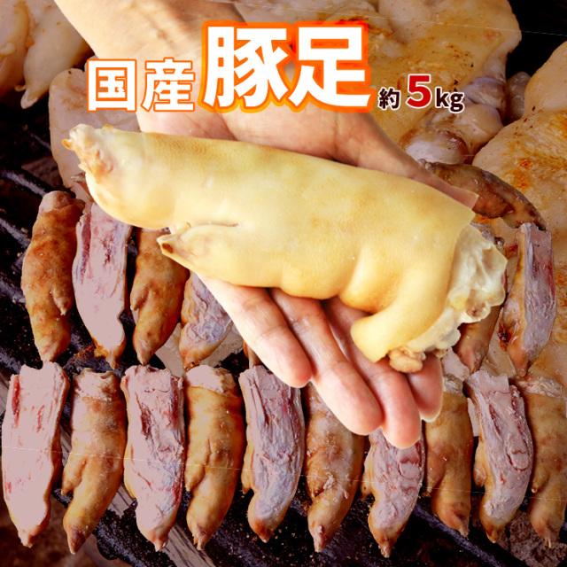 国産 豚足 とんそく てびち テビチ チョッパル トン足 トンソク 半割り カット 済み 2/1 豚足スライス 業務用 生 冷凍 約5kg 10から15本前後 焼足毛処理済