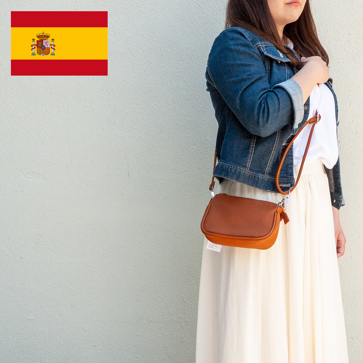 スペイン直送/2wayミニバッグ(キャメル)
