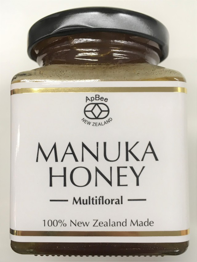 【新商品入荷】ニュージーランド産完熟生蜂蜜Apbeeマルチフローラルマヌカハニー 250g