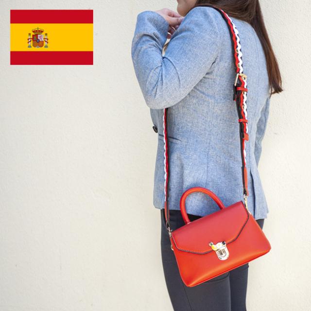 スペイン直送バッグ/パイナップルチャーム付ミニバッグ