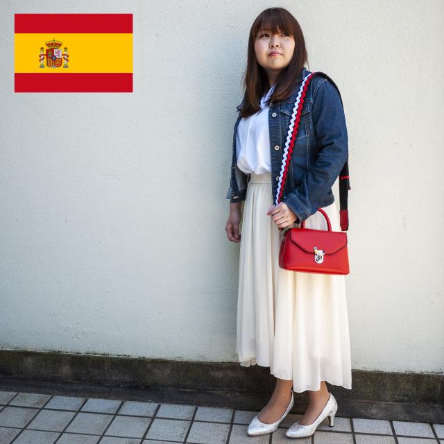 スペイン直送/パイナップルチャーム付ミニバッグ