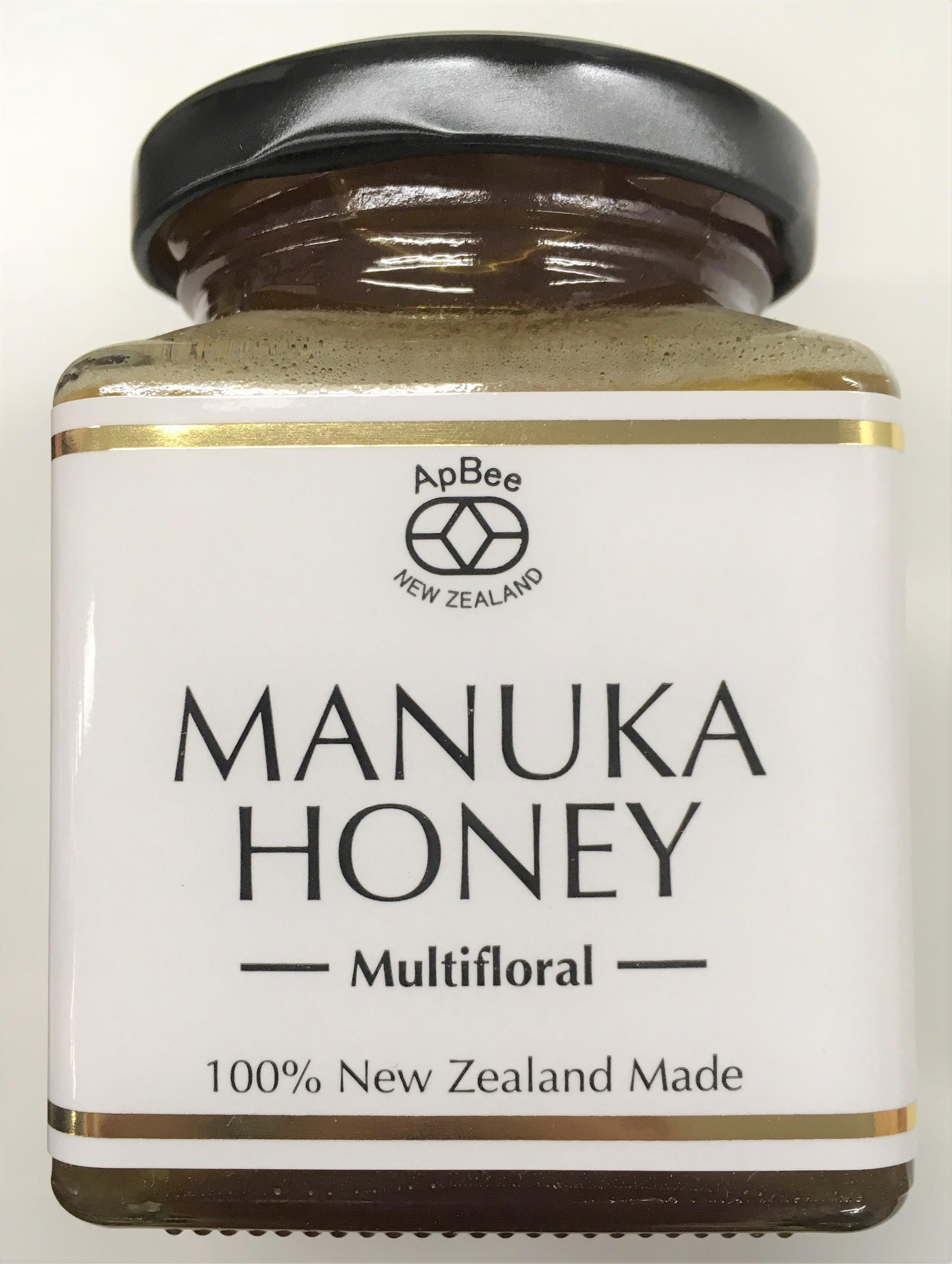 【新商品入荷!!】ニュージーランド産完熟生蜂蜜Apbeeマルチフローラルマヌカハニー 250g