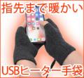 サンコー USB指までヒーター手袋 USBWMGLV