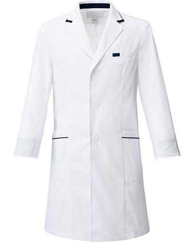 [フォーク] FOLK 【ネイビーの配色がオシャレなドクターコート】 メンズ シングルコート 1539SP (ホワイト)