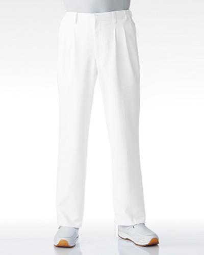 [カゼン] KAZEN 【新感覚のストレッチ素材採用のドクタースラックス】  メンズ スラックス 252-20 (ホワイト)