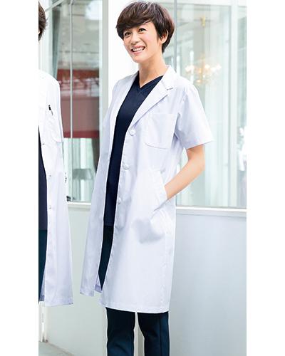 [フォーク] FOLK 【スタイリッシュにリニューアルしたロングセラー診察衣】 レディース 診察衣半袖 2532PO (ホワイト)