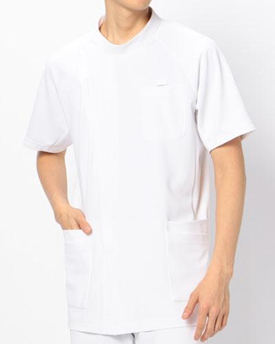 [カゼン] KAZEN 【かつてない動きやすさのニットジャケット】 メンズ ジャケット 半袖 982-40 (ホワイト)