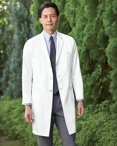 [カゼン] KAZEN 【BIANCA BY KAZEN こだわりの白を使用した診察衣】 メンズ 診察衣 KZN210-10 (ホワイト)