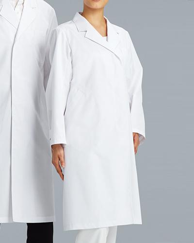 [カゼン] KAZEN 【着心地と機能性に優れたベーシックな診察衣】 女性用 診察衣 シングル 120-70 (ホワイト)