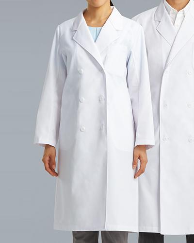 [カゼン] KAZEN 【着心地と機能性に優れたベーシックな診察衣】 女性用 診察衣 ダブル 125-70 (ホワイト)