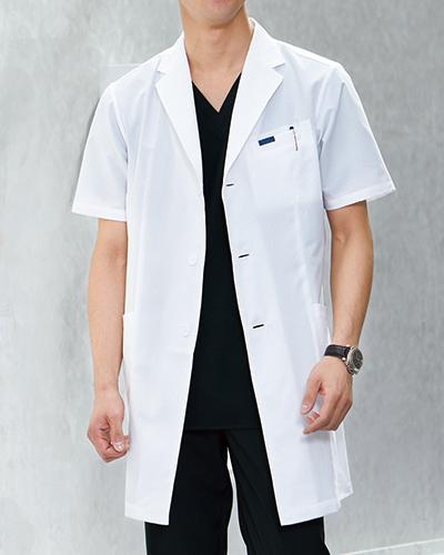 [フォーク] FOLK 【涼しさ、着心地に優れたドクターコート】 メンズ シングルコート半袖 1529PH (ホワイト)