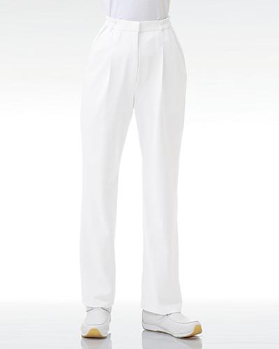 [カゼン] KAZEN 【快適性とシルエットにこだわったストレートパンツ】 女性用 ストレートパンツ(ホワイト) 163-20
