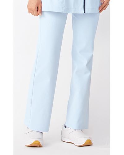[カゼン] KAZEN 【股上を浅くし、脚のラインをキレイに見せるブーツカットパンツ】 女性用 ブーツカットパンツ(サックス) 195-21
