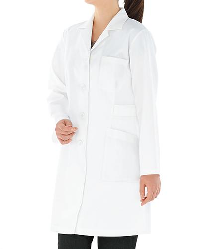 [カゼン] KAZEN 【ドクターにも薬局衣としても人気のハーフ丈診察衣/白衣】 女性用 診察衣 261-90 (オフホワイト)