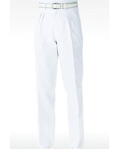 [カゼン] KAZEN 【着用感とデザインにこだわったNewスタンダードの医療スラックス】  メンズ スラックス 436-80 (ホワイト)