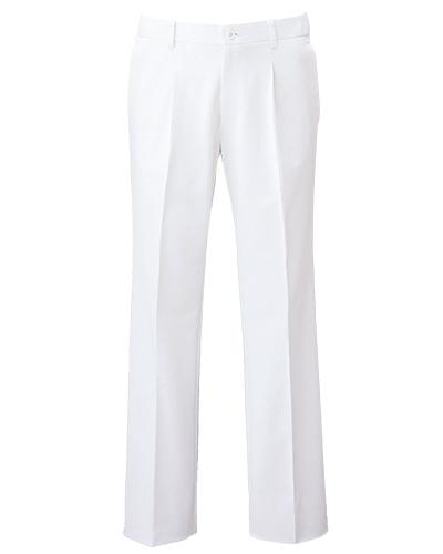 [フォーク] FOLK 【快適な着心地のスレートパンツ/医療白衣】 メンズ スレートパンツ 5010CR (ホワイト)