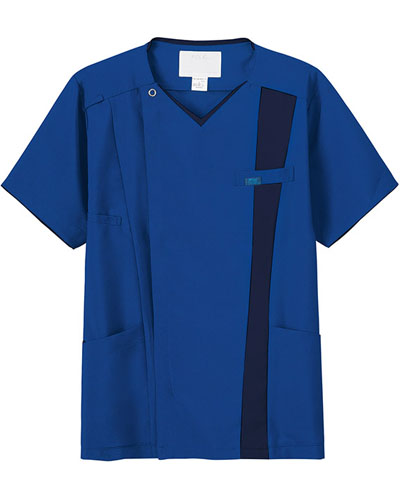 [フォーク] FOLK 【進化した白衣、ジップスクラブ】 メンズ ジップスクラブ 7058SC (ロイヤルブルー×ダークネイビー)