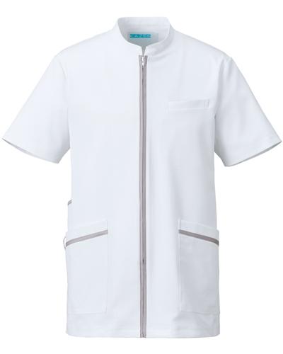 [カゼン] KAZEN 【美しいシルエットと知的なデザインが魅力】  メンズ ジャケット 781-40 (ホワイト×シルバー)
