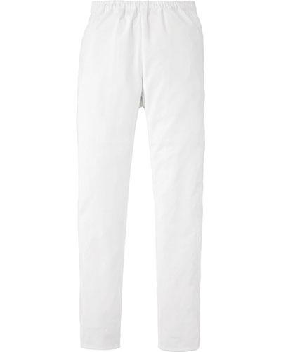 [カゼン] KAZEN 【動きやすい細身の美シルエットパンツ】  男女兼用 スラックス 855-40 (ホワイト)