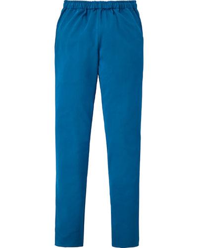 [カゼン] KAZEN 【動きやすい細身の美シルエットパンツ】  男女兼用 スラックス 855-41 (ブルー)