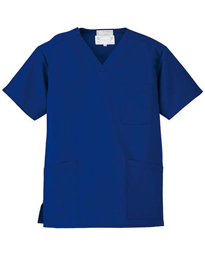 [ルミエール] Lumiere 【格安スクラブ/医療白衣】男女兼用 スクラブ 861400 (ブルー)