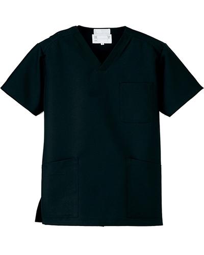 [ルミエール] Lumiere 【格安スクラブ/医療白衣】男女兼用 スクラブ 861400 (ブラック)