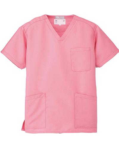 [ルミエール] Lumiere 【格安スクラブ/医療白衣】男女兼用 スクラブ 861400 (ピンク)
