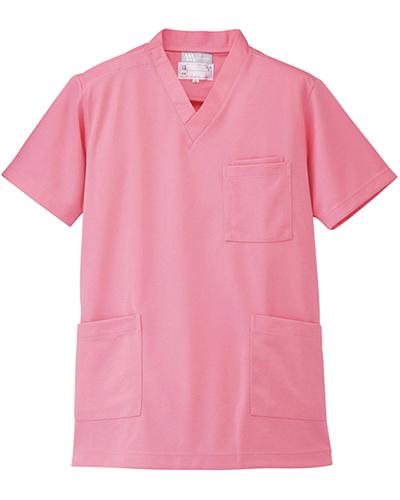 [ルミエール] Lumiere 【格安ニットスクラブ/医療白衣】男女兼用 ニットスクラブ 861401 (ピンク)