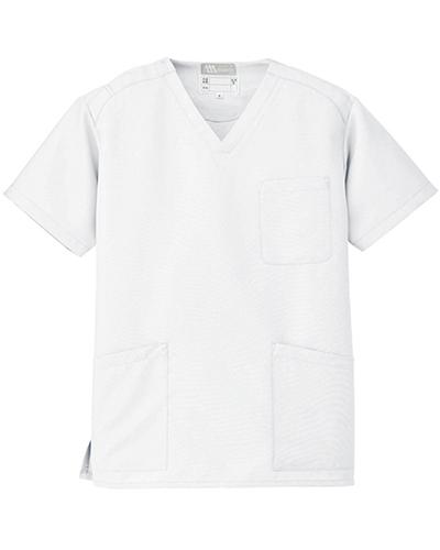 [ルミエール] Lumiere 【格安スクラブ/医療白衣】男女兼用 スクラブ 861405 (ホワイト)