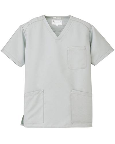 [ルミエール] Lumiere 【格安スクラブ/医療白衣】男女兼用 スクラブ 861405 (ライトグレー)