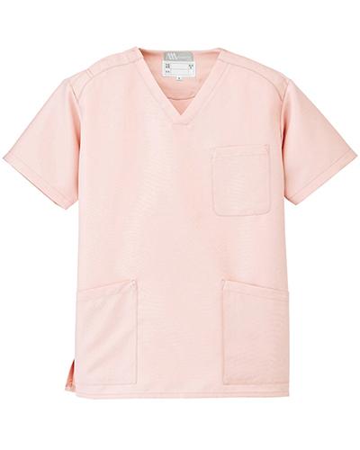 [ルミエール] Lumiere 【格安スクラブ/医療白衣】男女兼用 スクラブ 861405 (ピンク)
