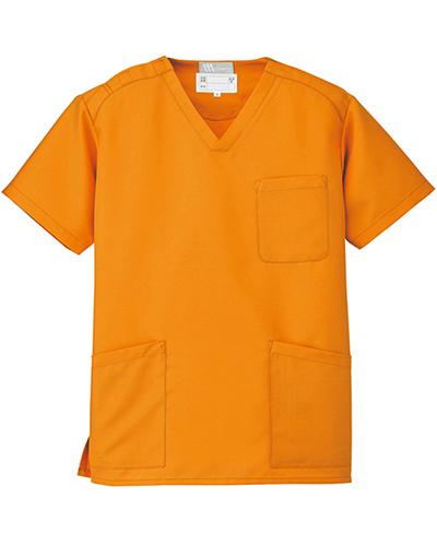 [ルミエール] Lumiere 【格安スクラブ/医療白衣】男女兼用 スクラブ 861405 (オレンジ)