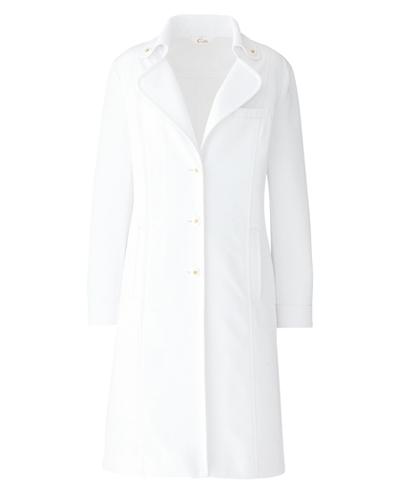 [キャララ] Calala 【大人の女性のエレガンスを完璧に表現したコート】 レディース ドクターコート CL-0101(ホワイト)