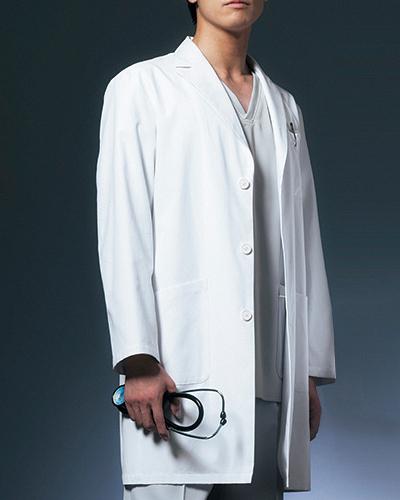 [オンワード] ONWARD 【上質でシルエットが美しいドクターコート】 男性用 ドクターコート CO-6007 (オフホワイト)