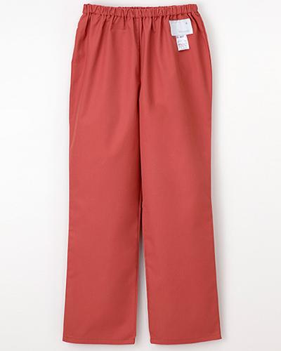 [ナガイレーベン] NAGAILEBEN 【すっきりとしたストレートシルエットのパンツ】女性用パンツ ES-8663 (コーラルレッド)