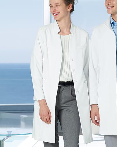 [ナガイレーベン] NAGAILEBEN 【モード感あふれる衿元で洗練されたイメージのドクターコート】 女性用 ドクターコート FT-4440 (Tシルバーグレー)