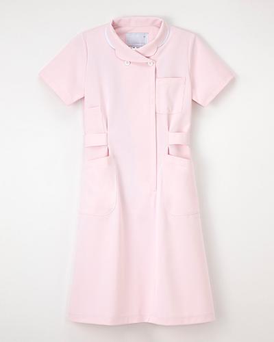 [ナガイレーベン] NAGAILEBEN 【ナース服/医療白衣】ワンピース半袖 HO-1937(ピンク)