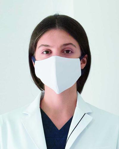 [ナガイレーベン] NAGAILEBEN 【立体構造の洗えるマスク / フィルターポケット付き】 男女兼用マスク HOS-5515 (ホワイト)2枚組