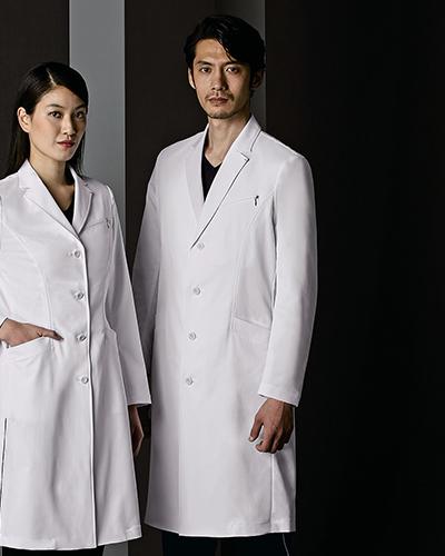 [ジュンココシノ] JUNKO KOSHINO 【シンプルなテーラードカラーのドクターコート】 メンズ ドクターコート(ロング丈) JK191-11(ホワイト)
