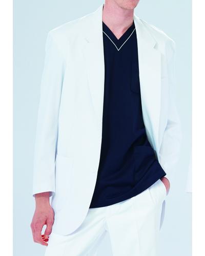 [ナガイレーベン] NAGAILEBEN 【落ち着きと、信頼感を備えたブレザー】 男性用 ジャケット KES-5160 (ホワイト)